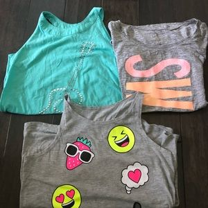 Lot of 3 - Girls Justice Tanks/Shirt